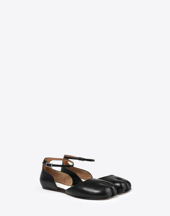 d39cd2439c6 MAISON MARGIELA Leather Tabi flats with ankle straps Tabi ballet flats       pickupInStoreShipping info