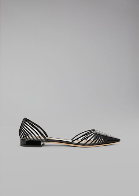 Ballet flats with plissé design