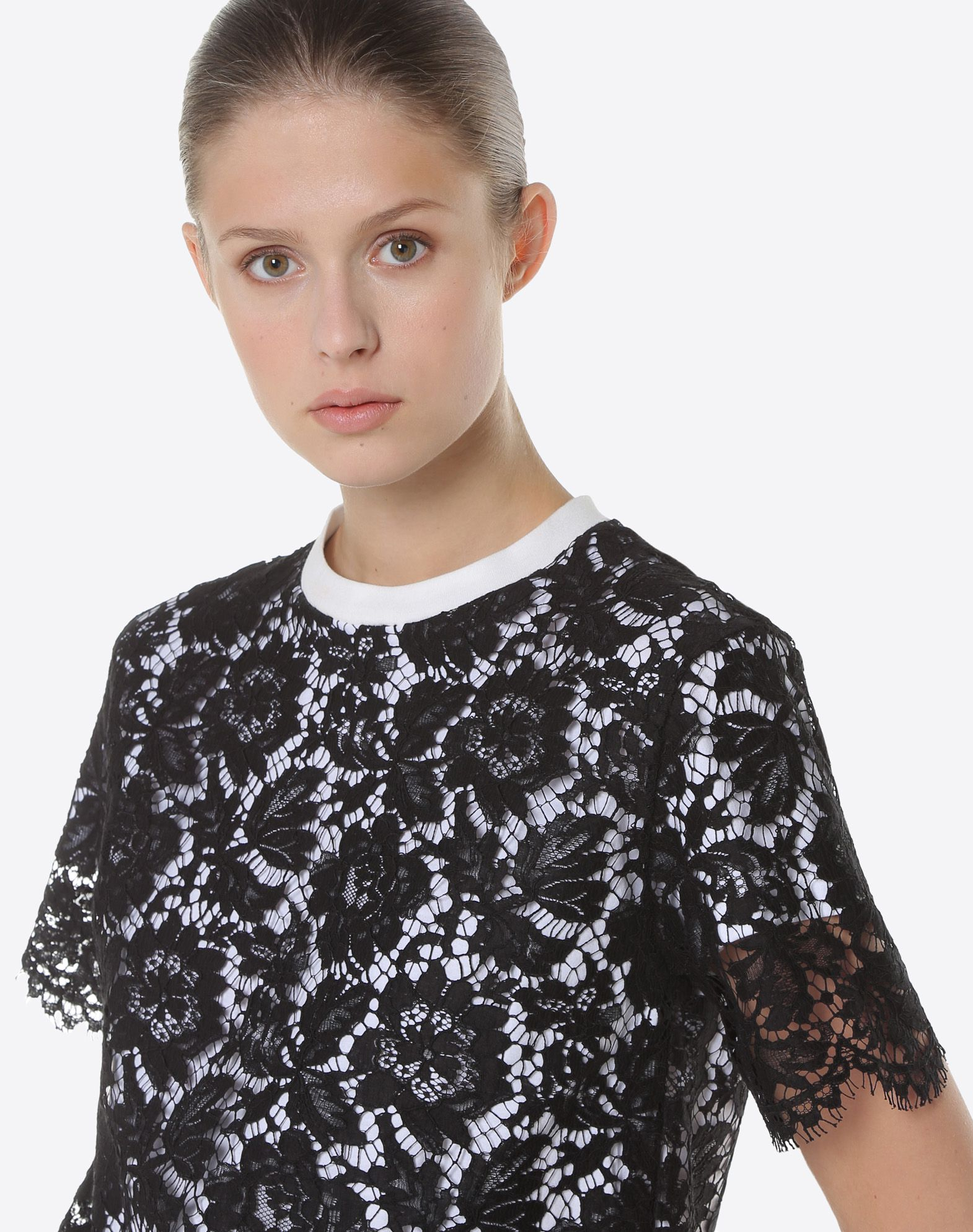 Valentino Heavy Lace T-shirt Cheap Sale Online 5zhOnrMxR