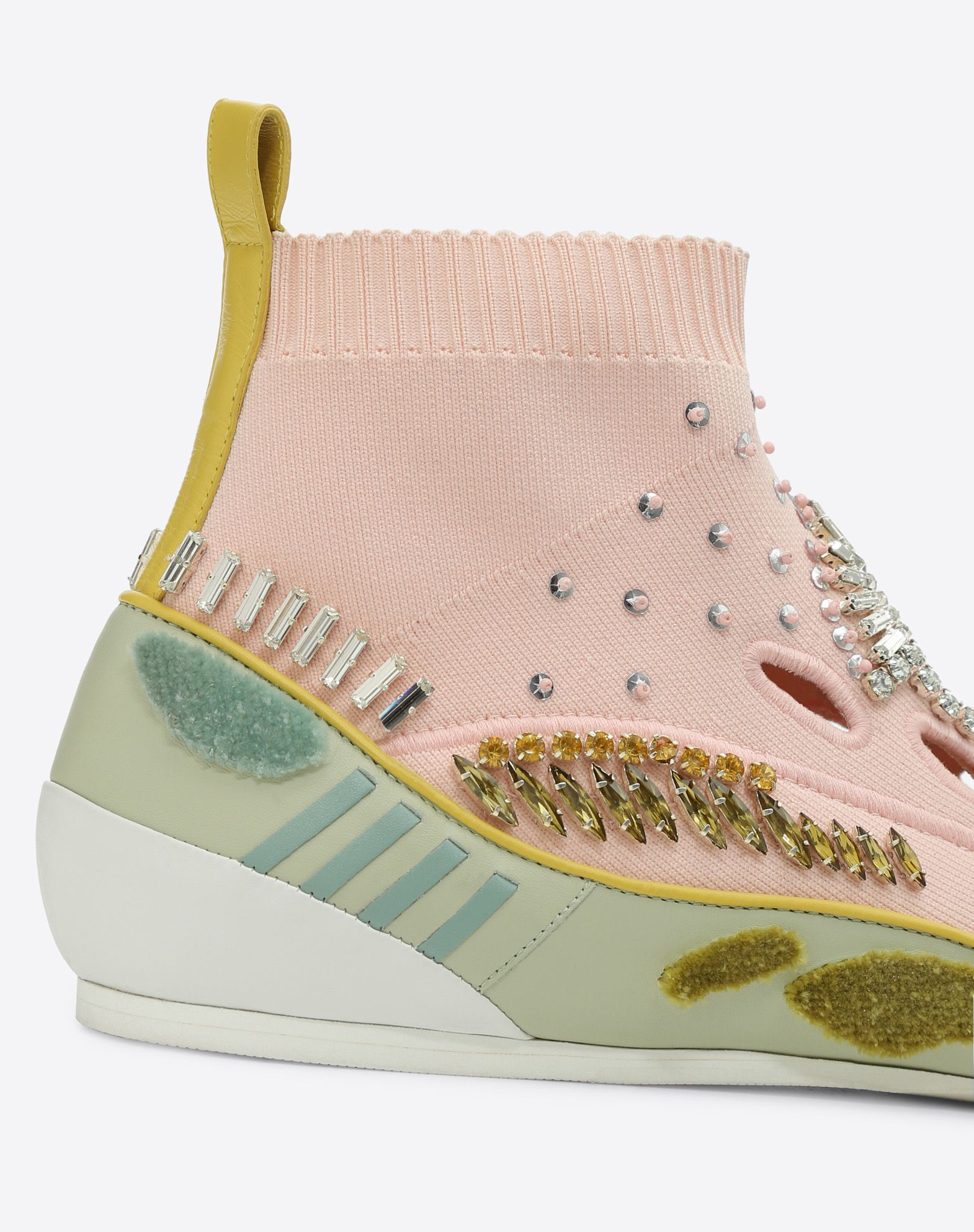 VALENTINO GARAVANI Embroidered high-top Sneaker with cut-out detail HIGH-TOP SNEAKER D b