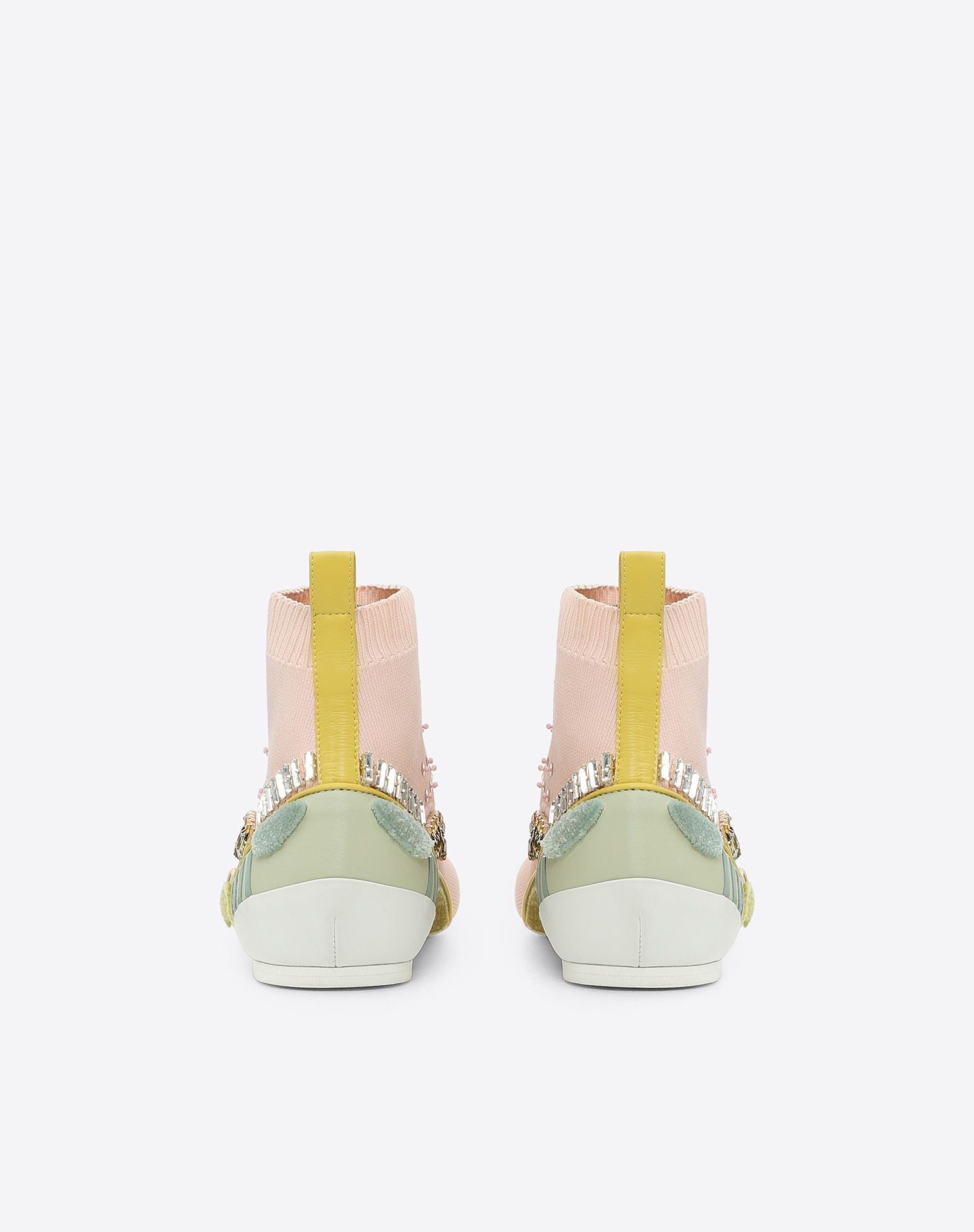 VALENTINO GARAVANI Embroidered high-top Sneaker with cut-out detail HIGH-TOP SNEAKER D d