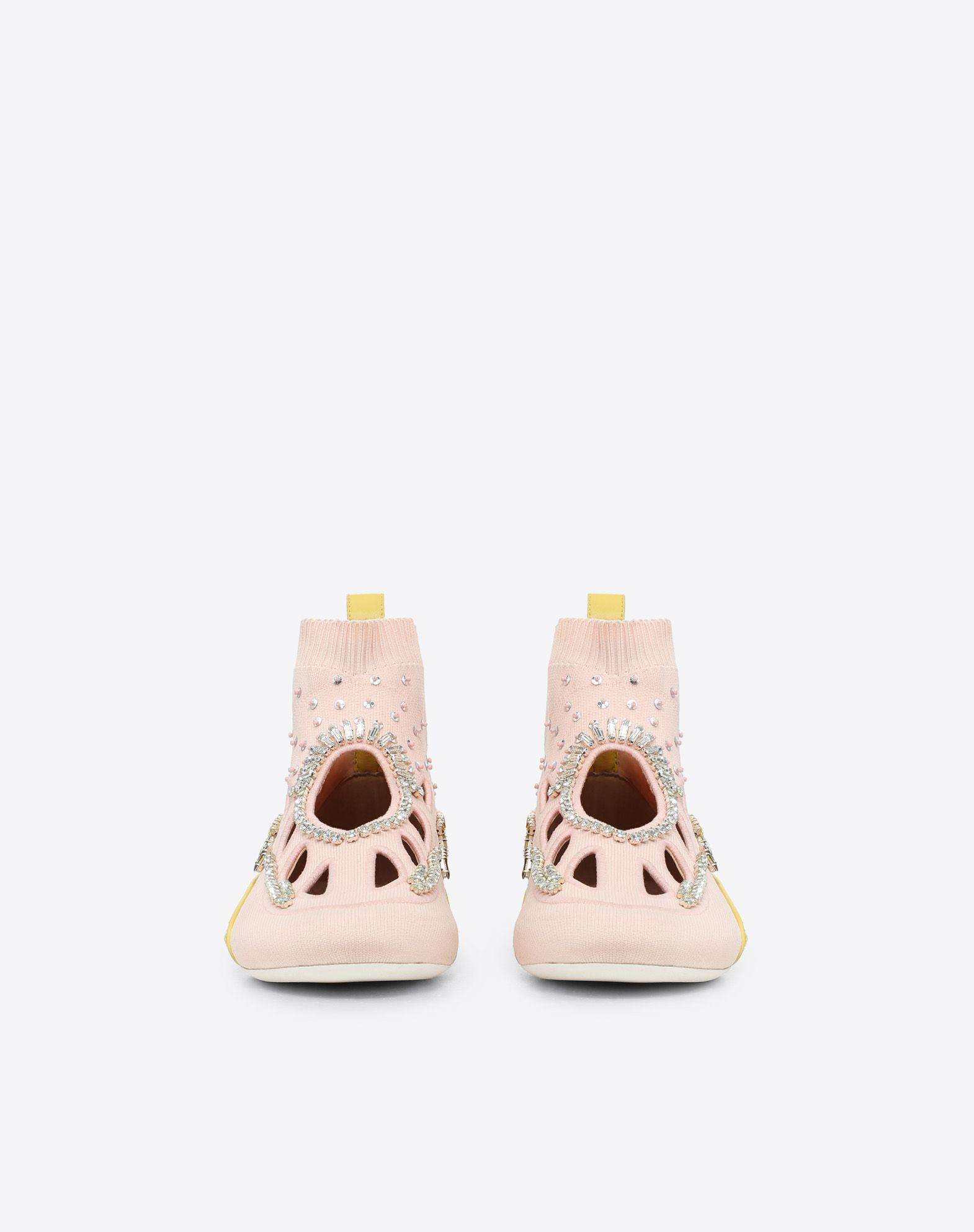 VALENTINO GARAVANI Embroidered high-top Sneaker with cut-out detail HIGH-TOP SNEAKER D e