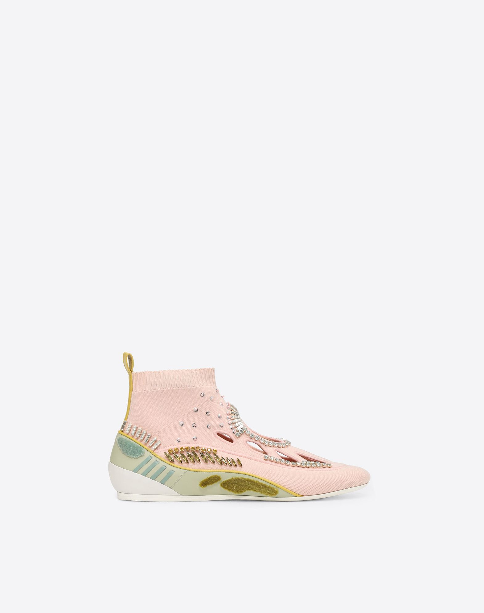 VALENTINO GARAVANI Embroidered high-top Sneaker with cut-out detail HIGH-TOP SNEAKER D f