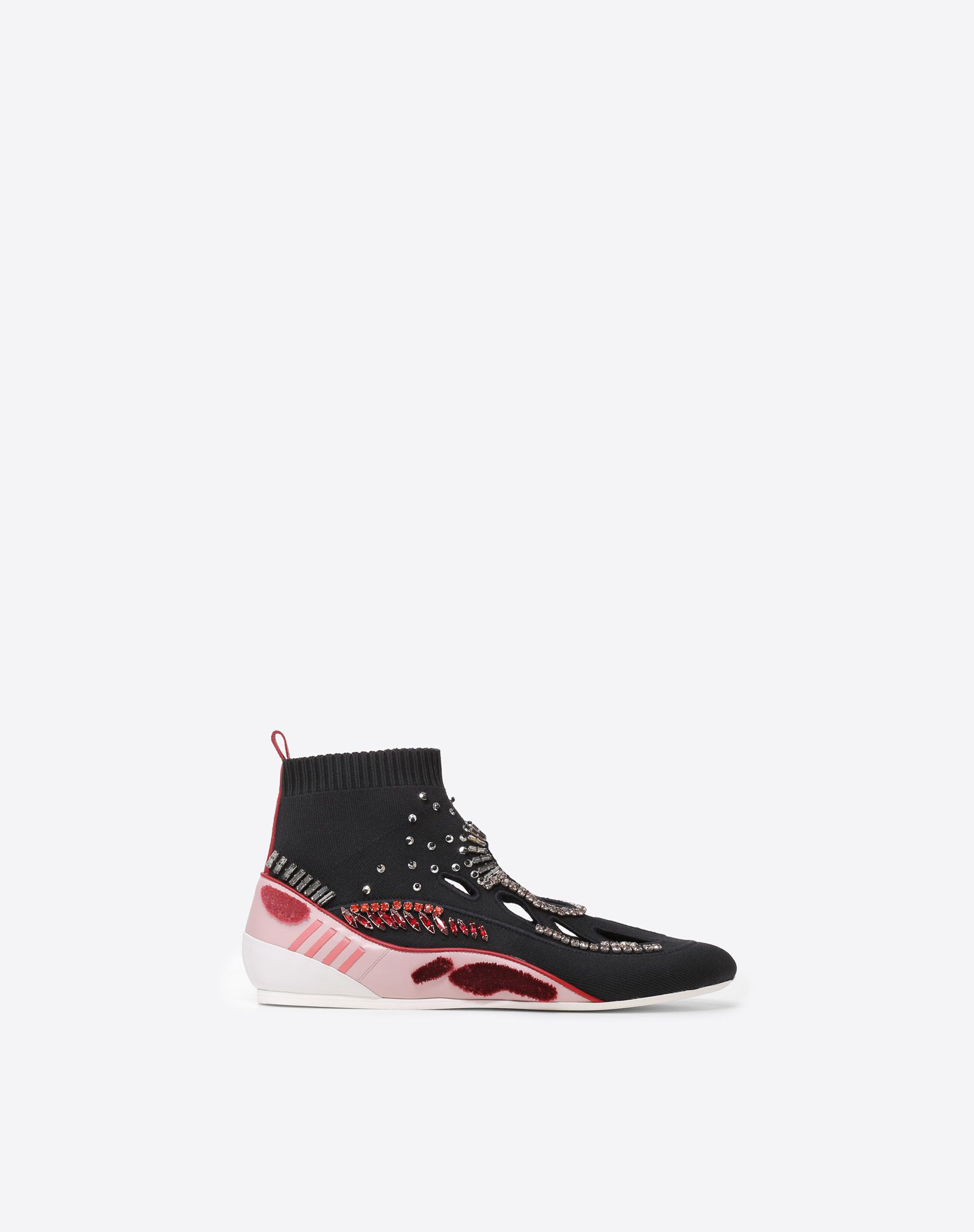 VALENTINO Contrasting applications Lightweight sweater Round toeline Rubber sole  11440484xa