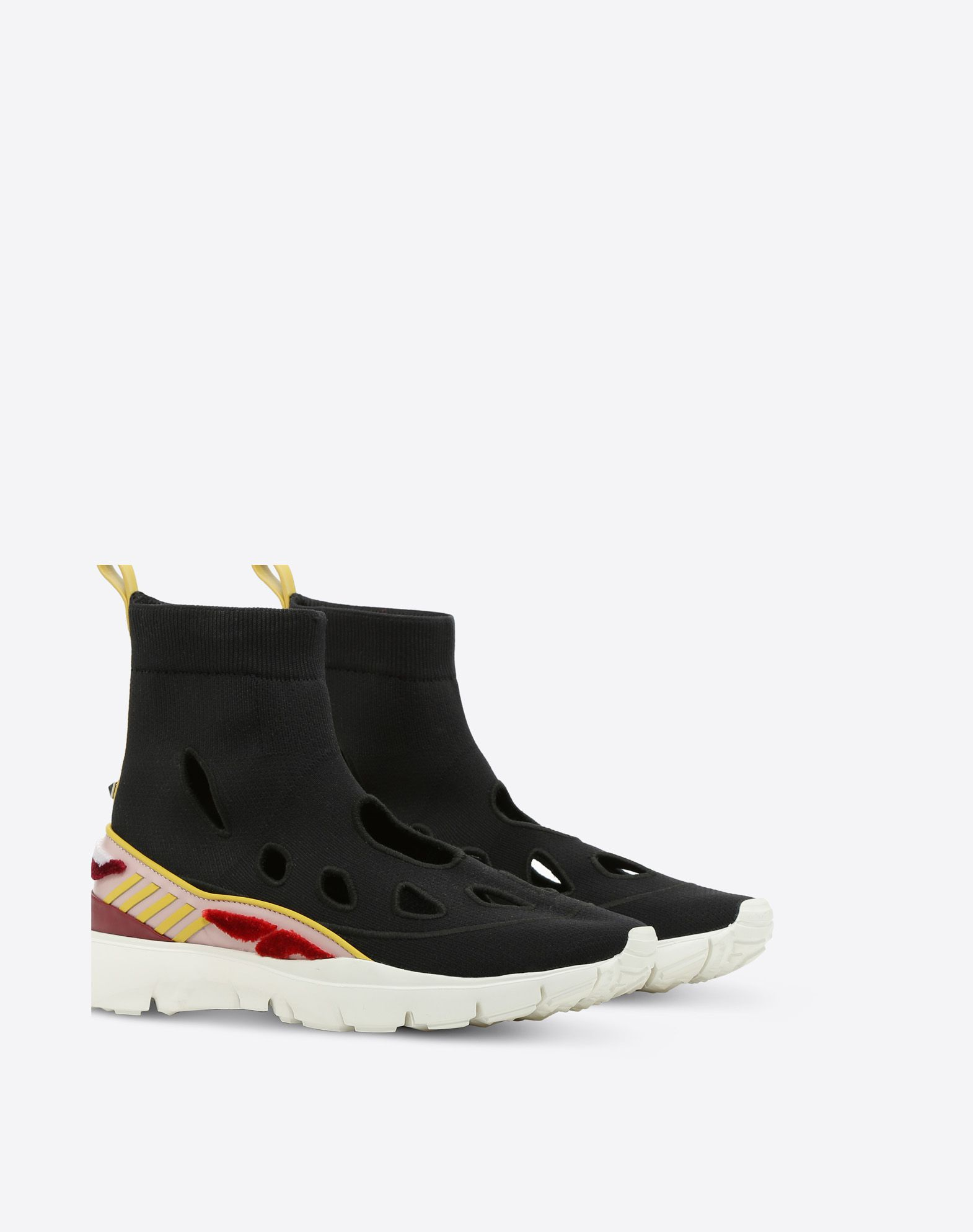 VALENTINO GARAVANI Embroidered high-top Sneaker HIGH-TOP SNEAKER D r