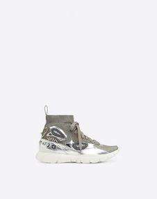 VALENTINO GARAVANI HIGH-TOP SNEAKER D Embroidered high-top Sneaker f