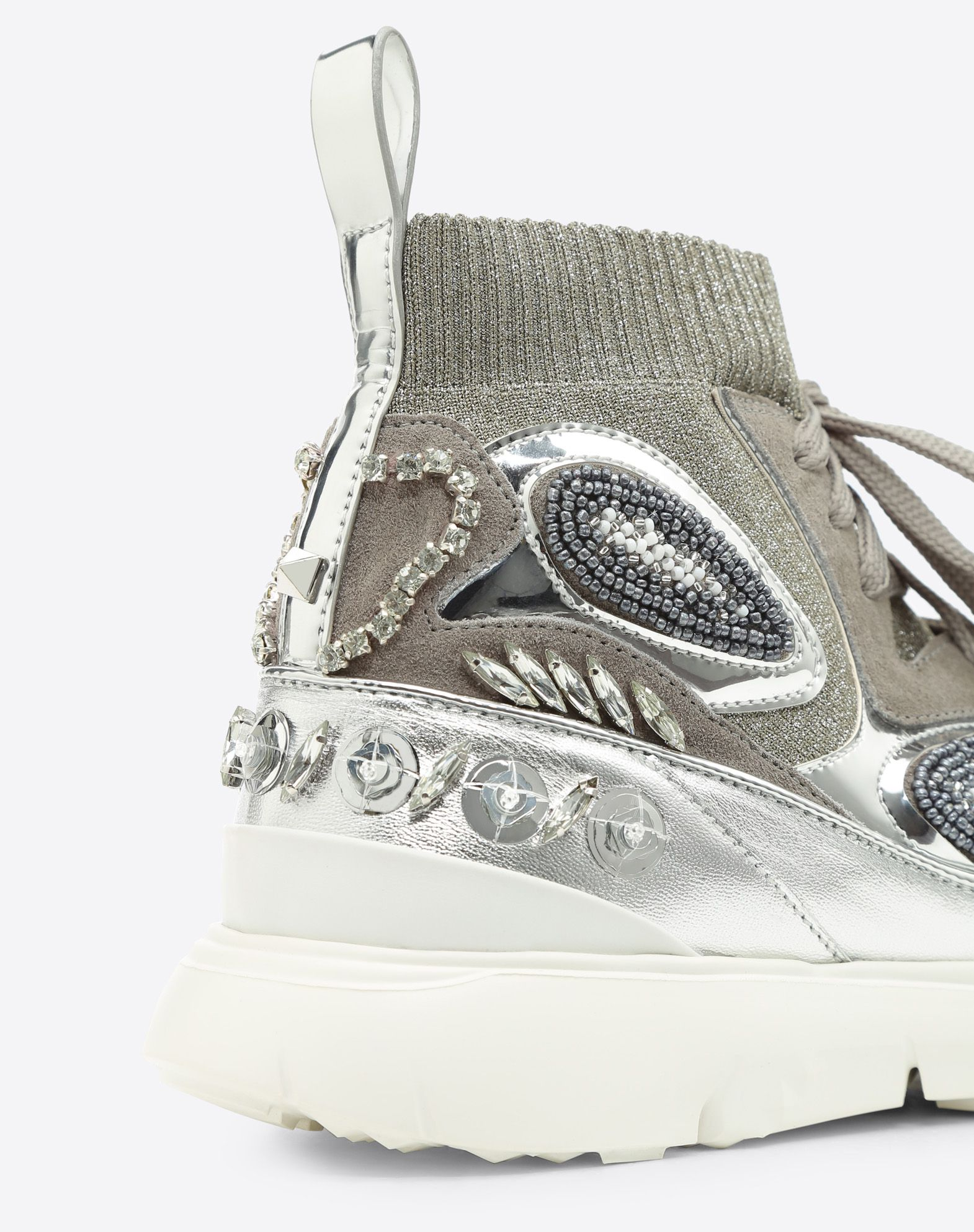 VALENTINO GARAVANI Embroidered high-top Sneaker HIGH-TOP SNEAKER D b