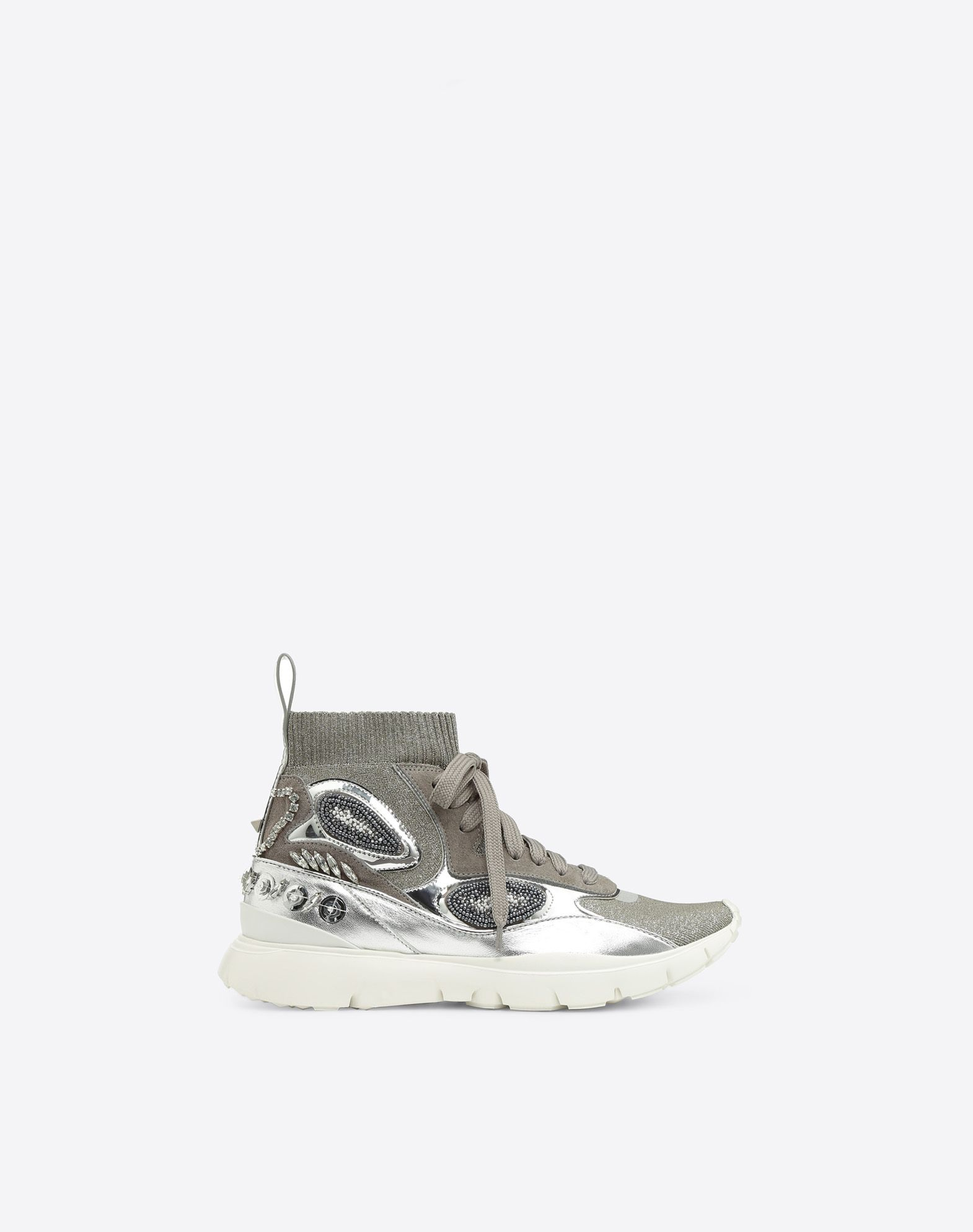 VALENTINO GARAVANI Embroidered high-top Sneaker HIGH-TOP SNEAKER D f