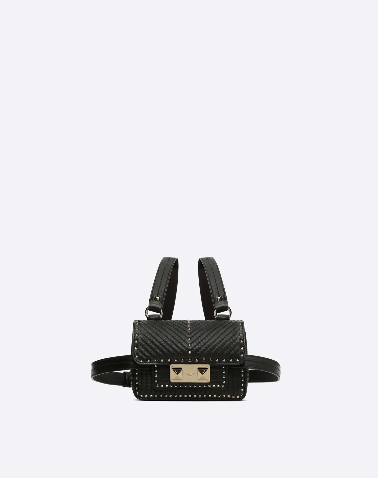 VALENTINO Logo Studs Solid colour Framed closure Fully lined Small  11440500an