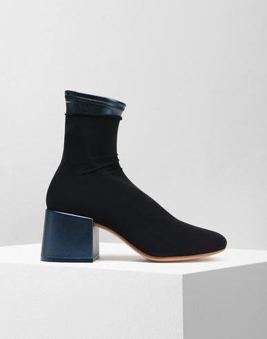 MM6 MAISON MARGIELA Ankle boots Woman Flared heel ankle sock boots f