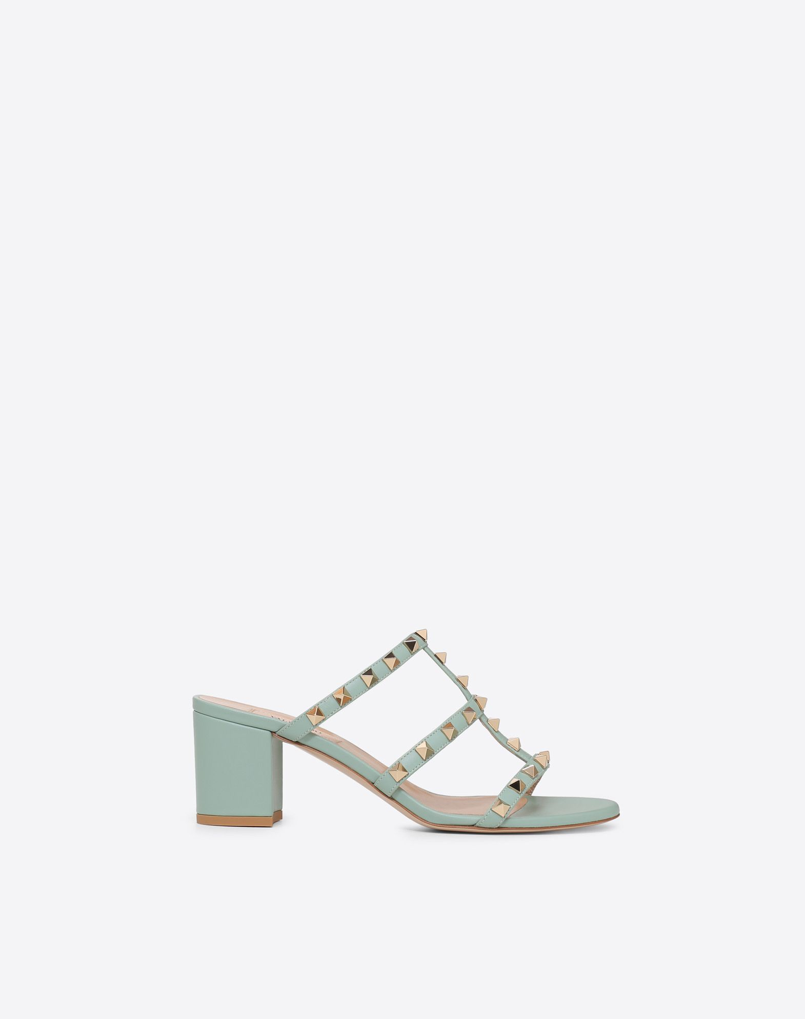 VALENTINO Leather Metal Applications Solid color Leather sole Round toeline Square heel  11445935bu