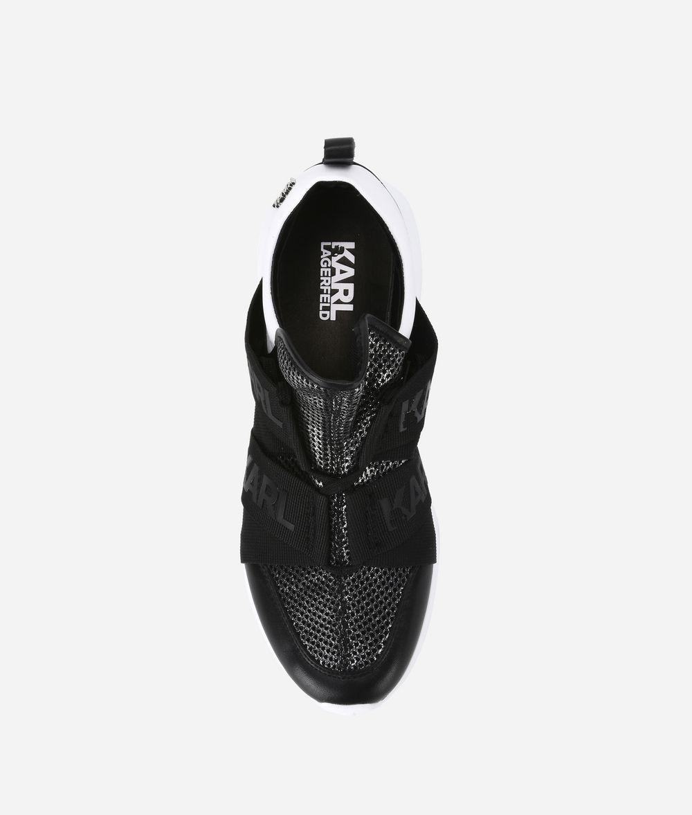 KARL LAGERFELD VITESSE Legere Strap Mesh Running Shoe  Sneakers Woman d