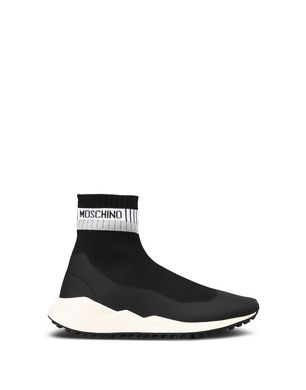 Boots for Men, Booties On Sale, Black, Neoprene, 2017, 10 11 6 7 Moschino