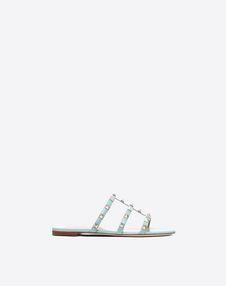 VALENTINO GARAVANI 拖鞋式凉鞋 D Rockstud 低跟凉鞋 f
