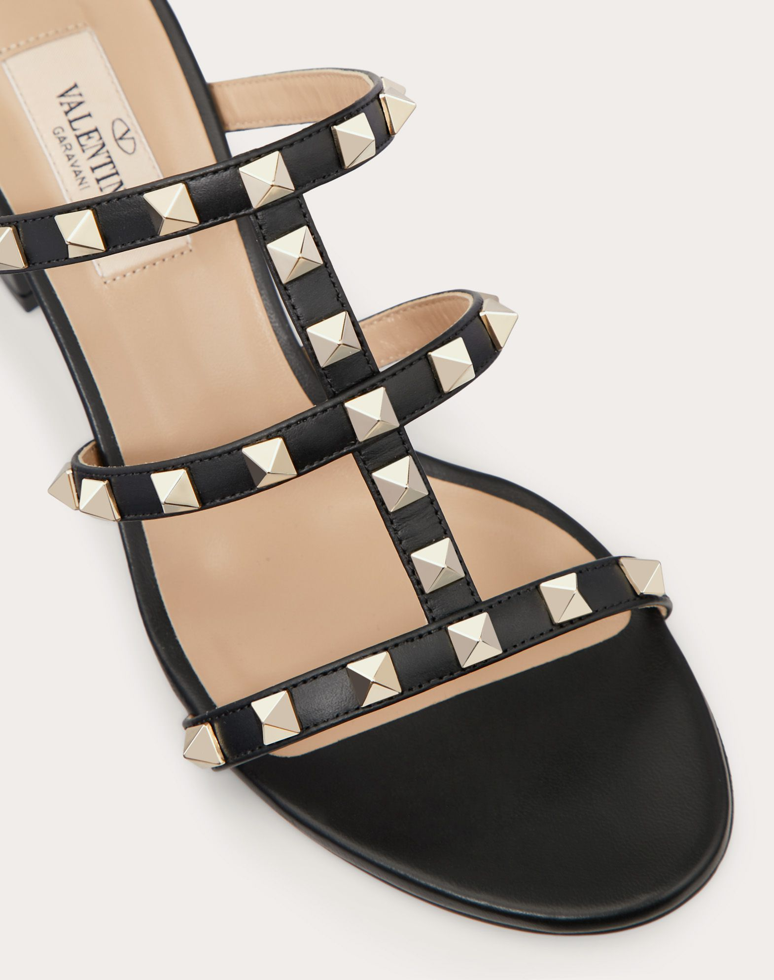 VALENTINO Studs Solid color Leather sole Round toeline Square heel  11452634gc