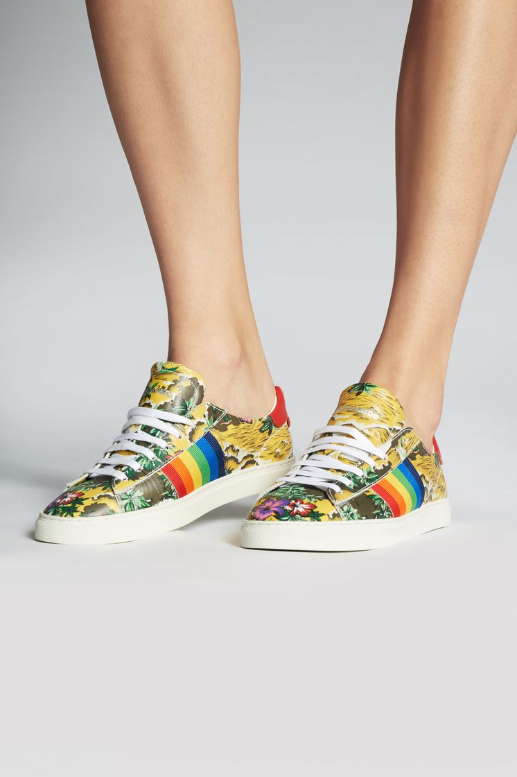 DSQUARED2 Hawaiian Rocker New Tennis Sneakers Sneaker Woman