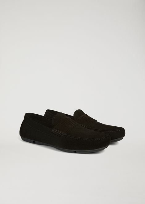 Suede leather driving shoes
