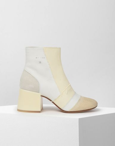 MM6 MAISON MARGIELA Ankle boots Woman Monochrome patchwork ankle boots f