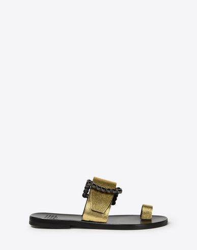 MAISON MARGIELA Metallic buckle sandals Sandals D f