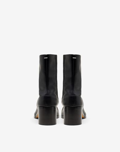 SHOES Painted calfskin Tabi boots Black