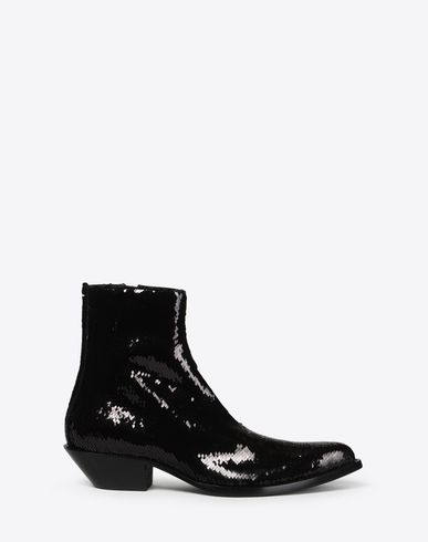 MAISON MARGIELA Bottines Homme Bottes de cow-boy à paillettes f