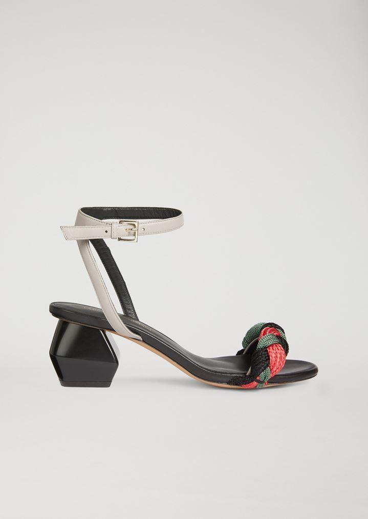 1124fe2906f Sandals with multicolour cord band   Woman   Emporio Armani