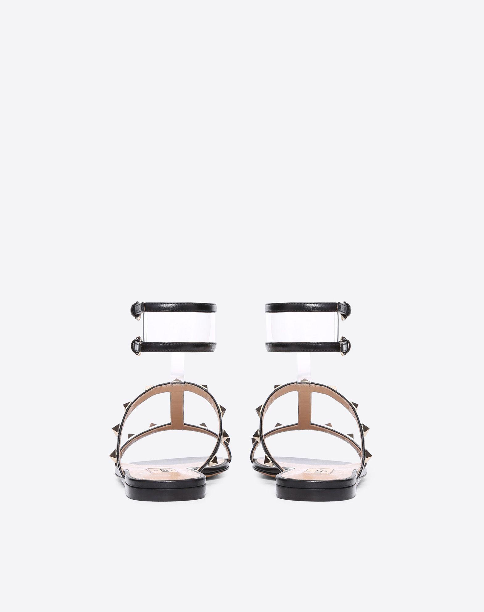 VALENTINO GARAVANI See-through flat sandal FLAT SANDALS D d
