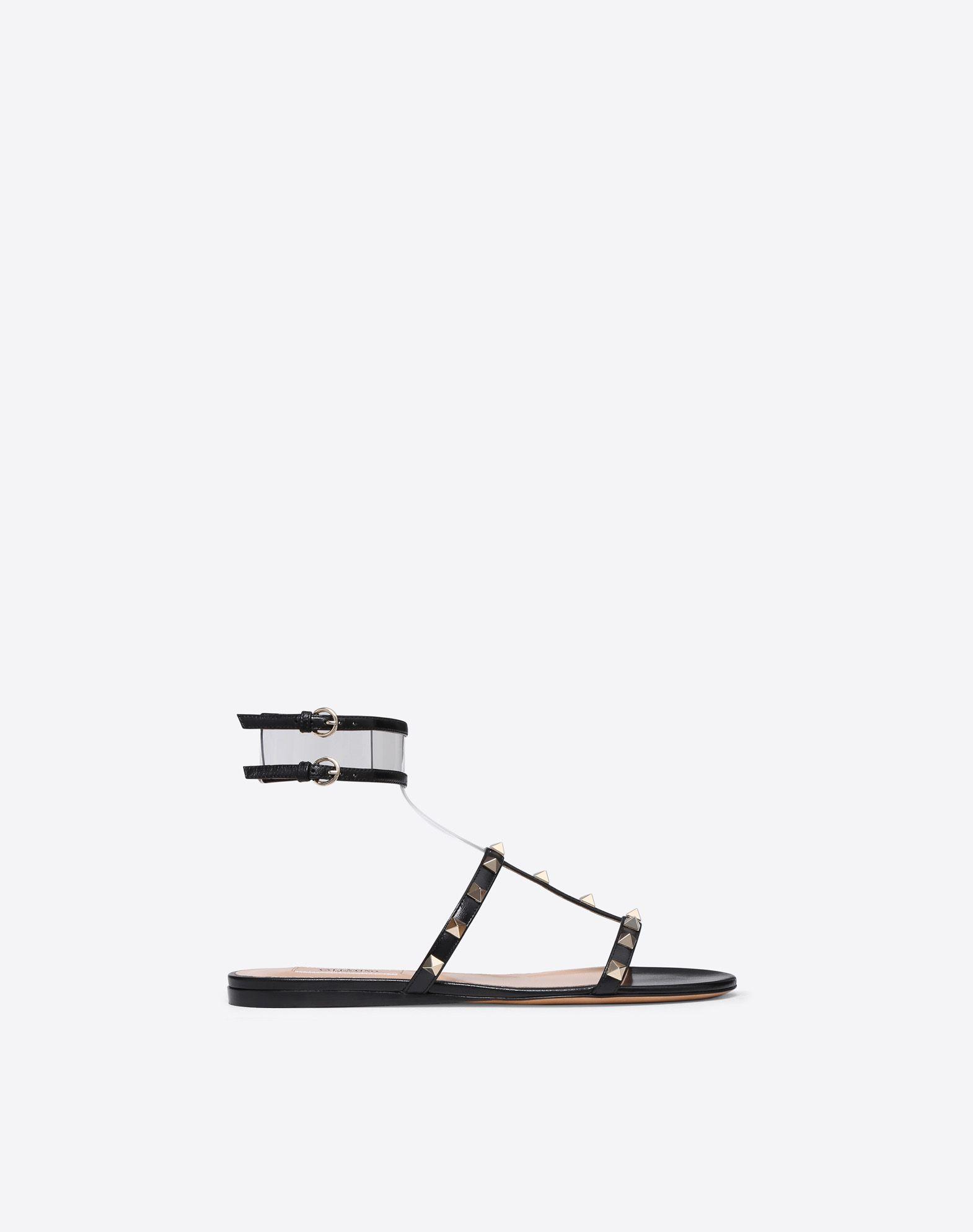 VALENTINO GARAVANI See-through flat sandal FLAT SANDALS D f