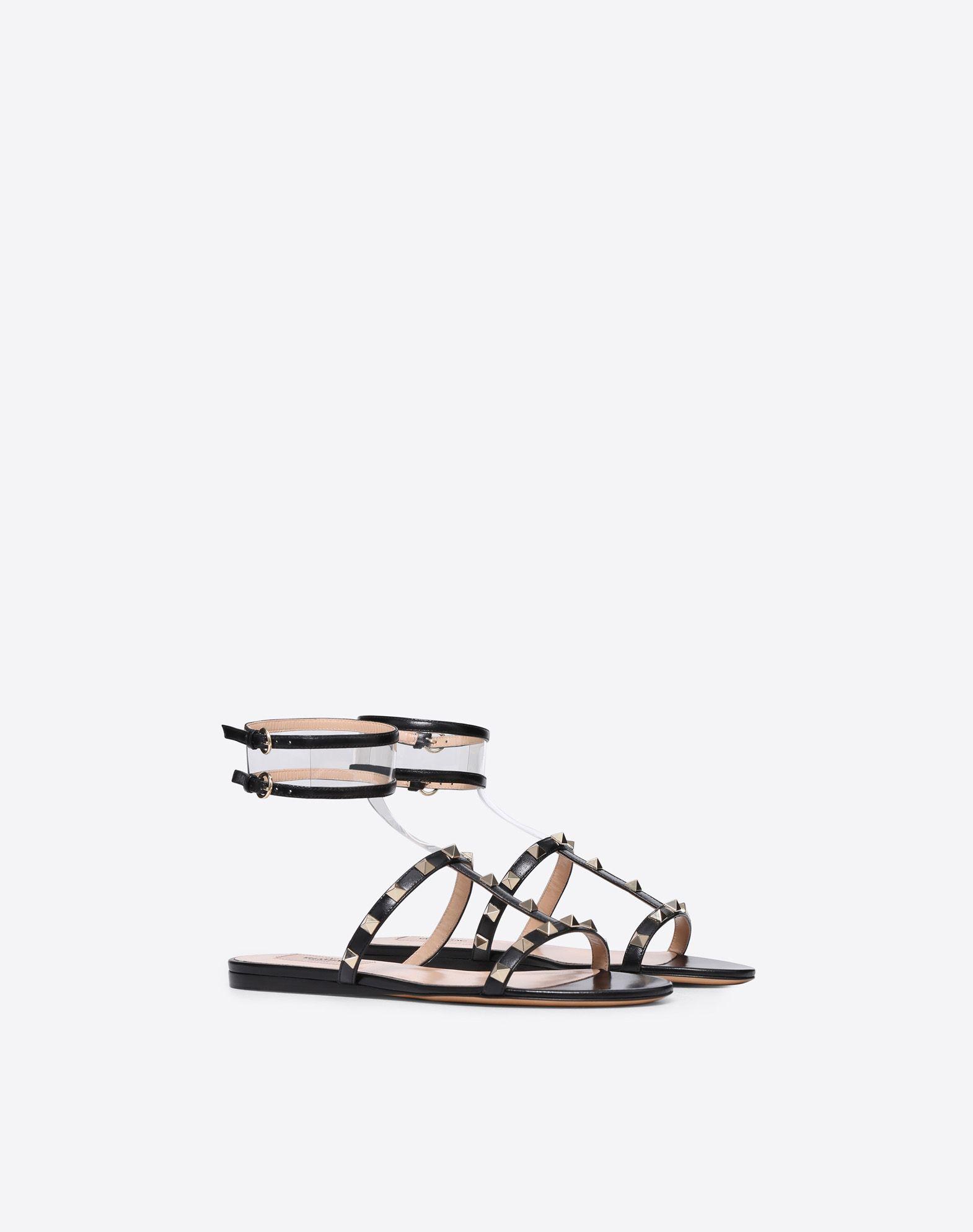 VALENTINO GARAVANI See-through flat sandal FLAT SANDALS D r