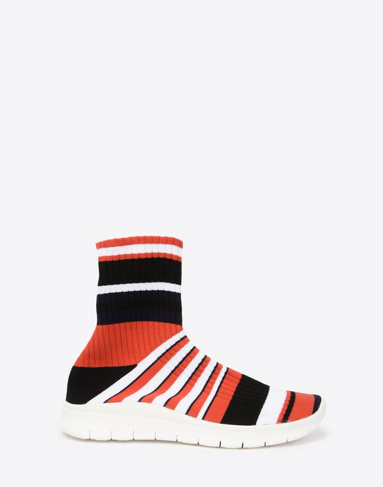 Maison MargielaStriped socks sneakers BnLFl