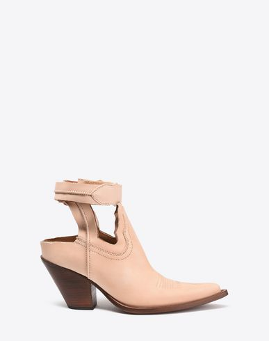 MAISON MARGIELA Sandals Woman Cut-out suede cowboy boots f