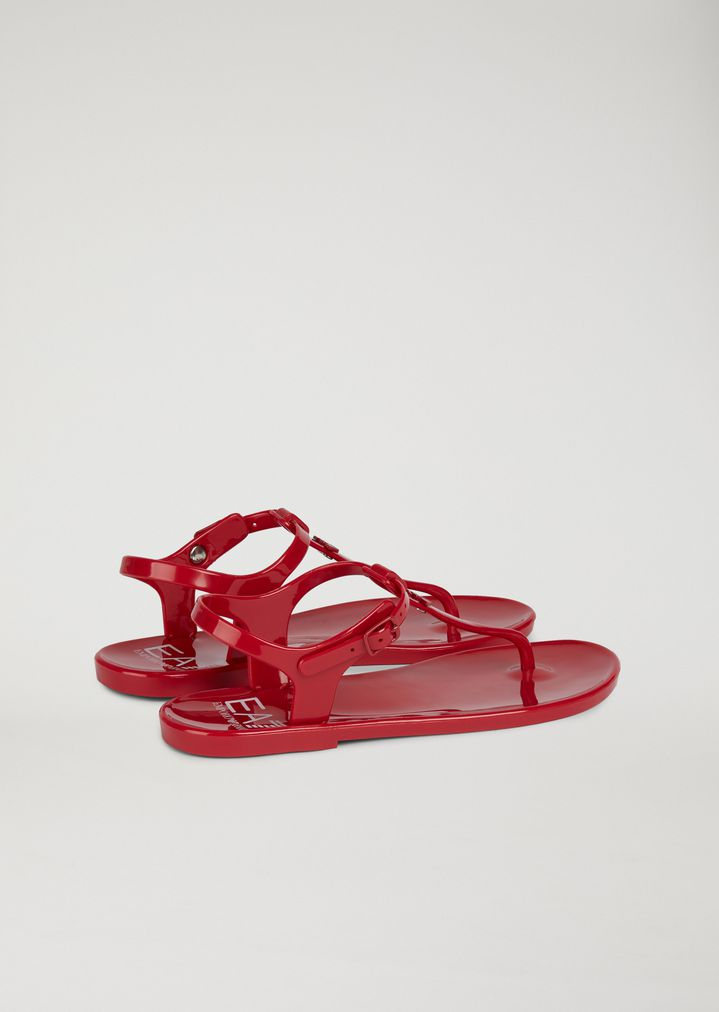 c39b37d8802fe4 Home · Emporio Armani  Jelly Thong Sandals. EA7
