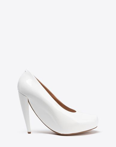 MAISON MARGIELA Closed-toe slip-ons Woman Oversized patent pumps f