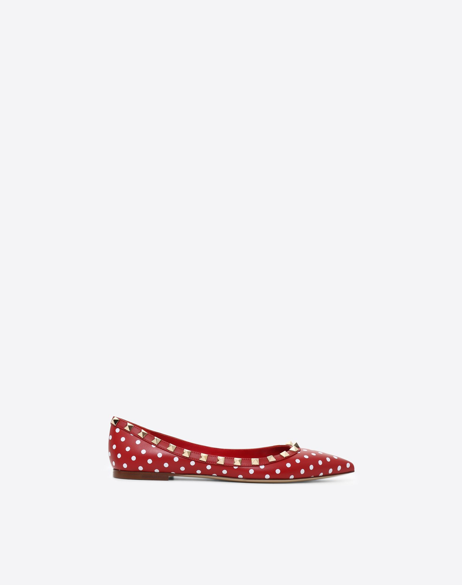 VALENTINO Studs Narrow toeline Leather sole Polka dots  11470391hm