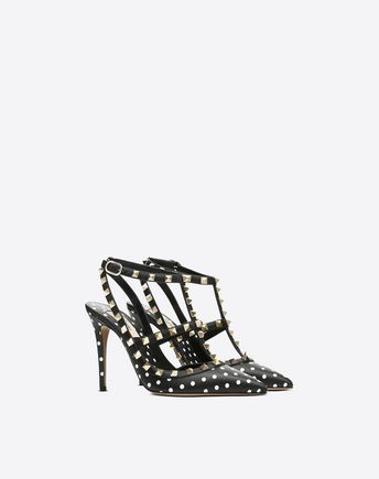 VALENTINO GARAVANI HIGH HEEL PUMPS D Striped Rockstud Courts r