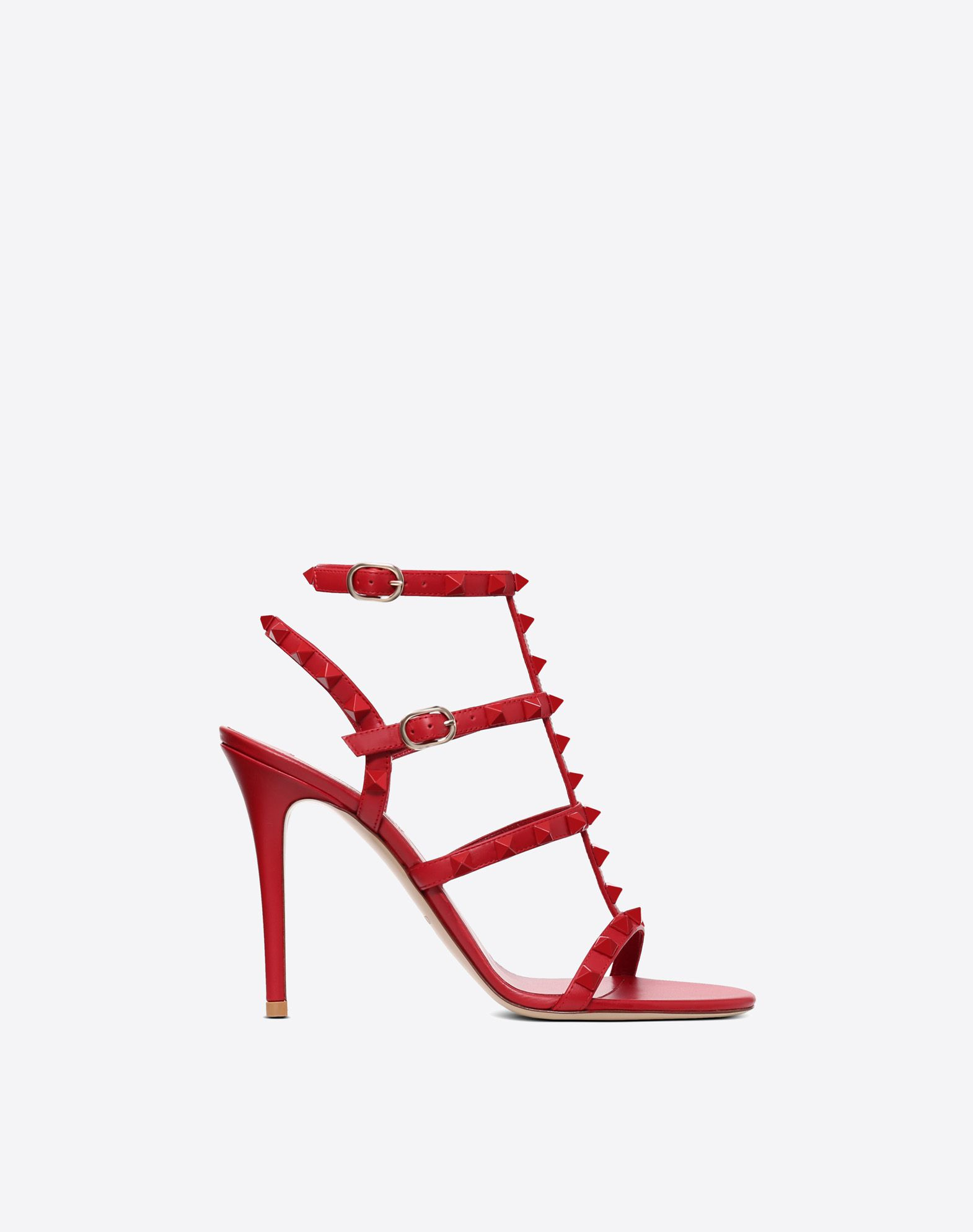 VALENTINO Studded Round toeline Leather lining Basic solid colour Leather sole Buckle Spike heel  11470567rv