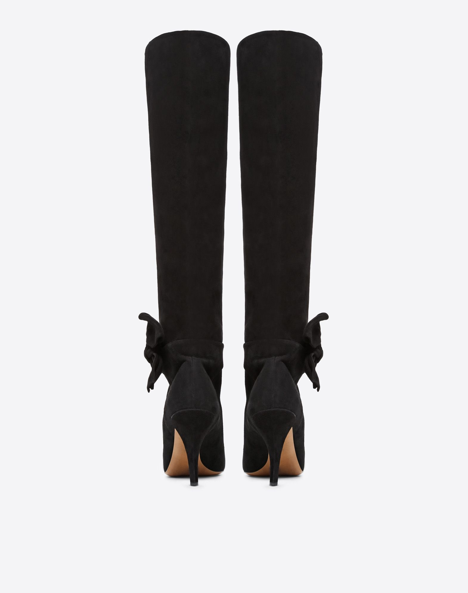 VALENTINO GARAVANI Knee-High Bow Boot in Suede Boot D d