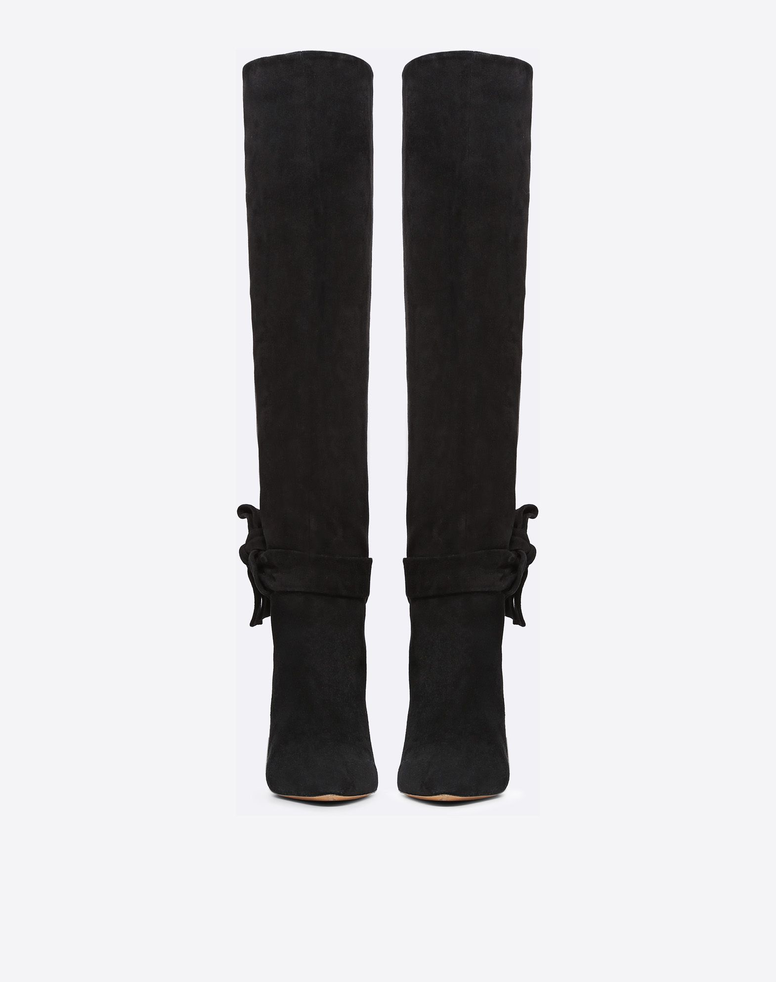 VALENTINO GARAVANI Knee-High Bow Boot in Suede Boot D e