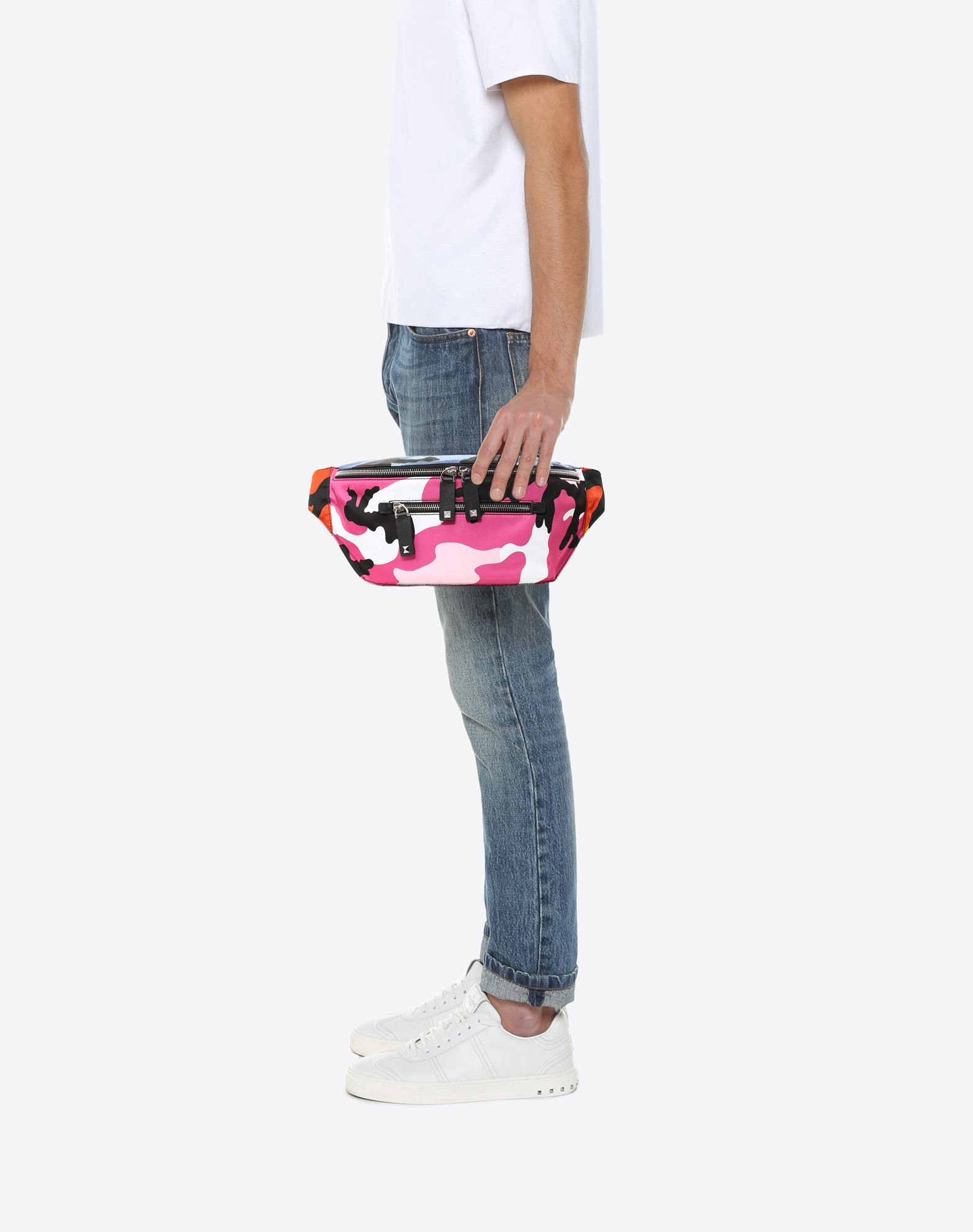 VALENTINO GARAVANI UOMO Camoushuffle belt bag FANNY PACK U a