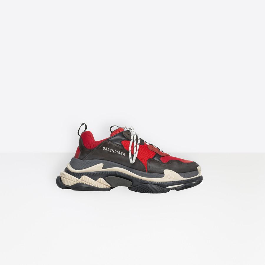 0d0643ce4c318 BALENCIAGA Triple S Trainers Triple S Shoes Man f ...