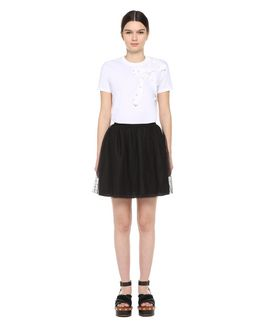 REDValentino Point d'Esprit Tulle skirt