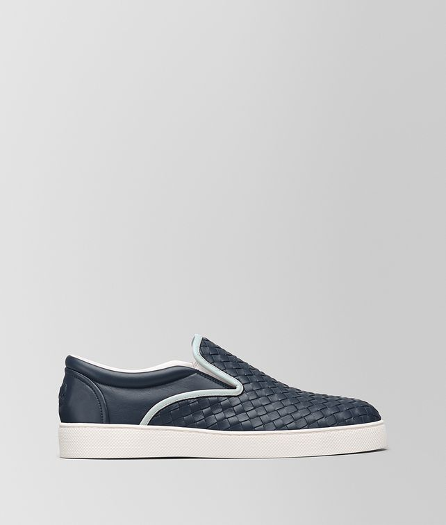BOTTEGA VENETA DENIM INTRECCIATO NAPPA DODGER SNEAKER Trainers [*** pickupInStoreShippingNotGuaranteed_info ***] fp