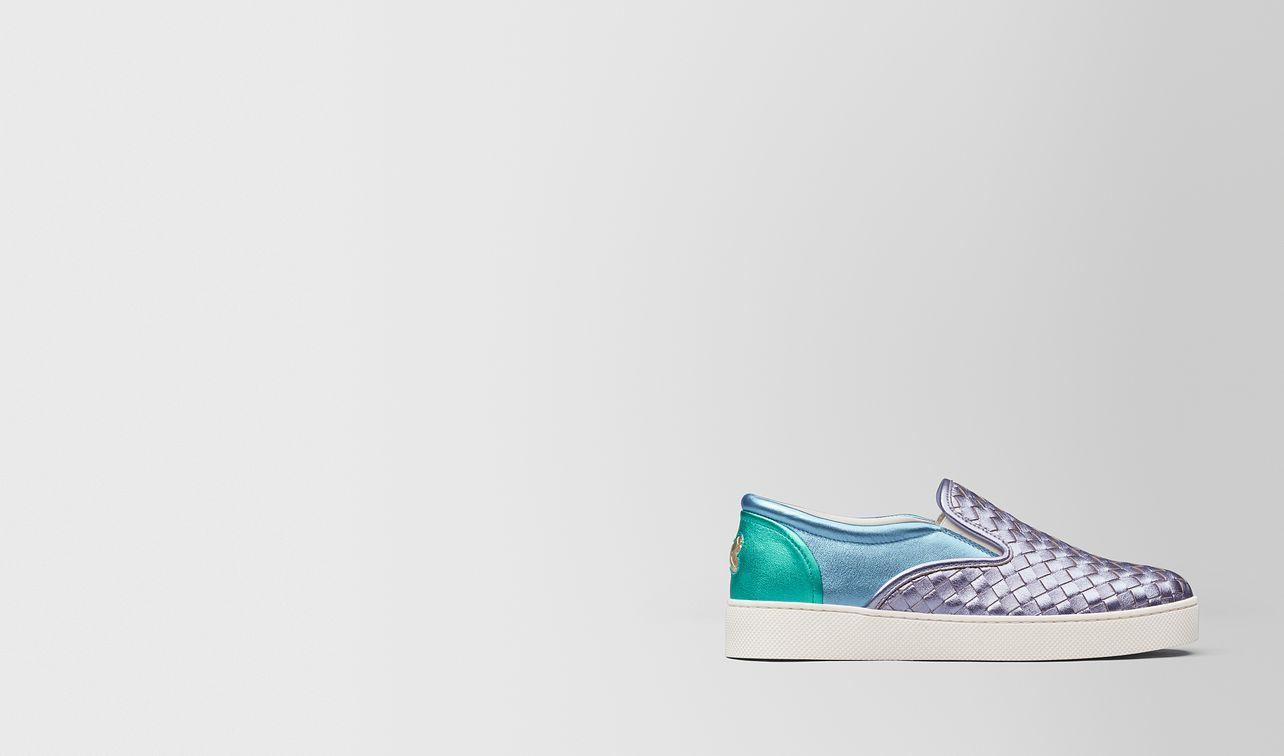 sneaker dodger in intrecciato nappa lamé multicolor landing