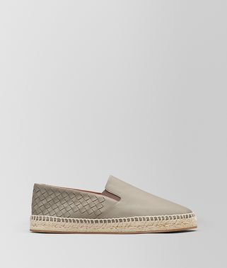 ESPADRILLAS GALA IN INTRECCIATO NAPPA DARK CEMENT