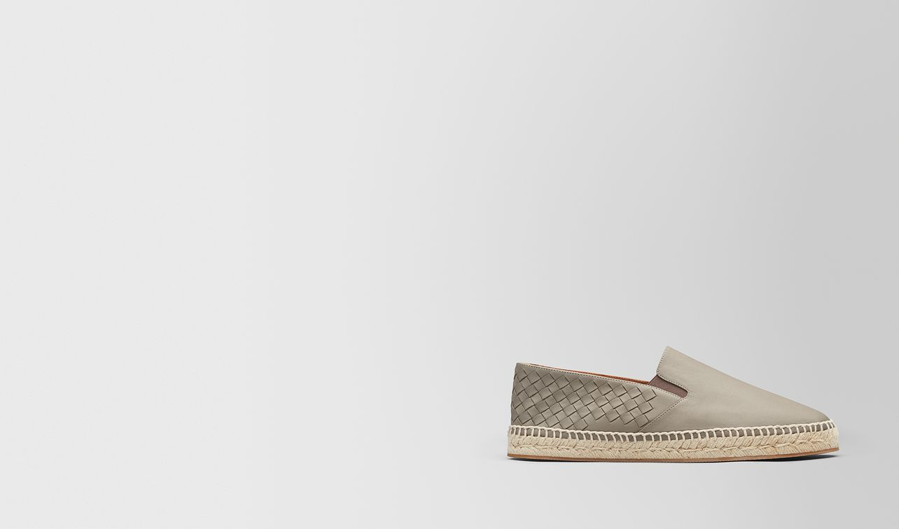 espadrillas gala in intrecciato nappa dark cement landing
