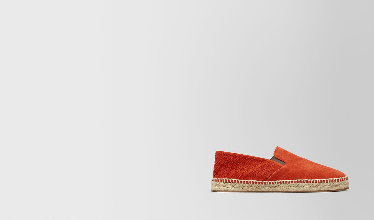 espadrillas gala in intrecciato suede dark terracotta landing
