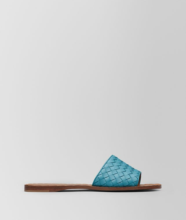 BOTTEGA VENETA AQUA INTRECCIATO NAPPA RAVELLO SANDAL Sandals Woman fp