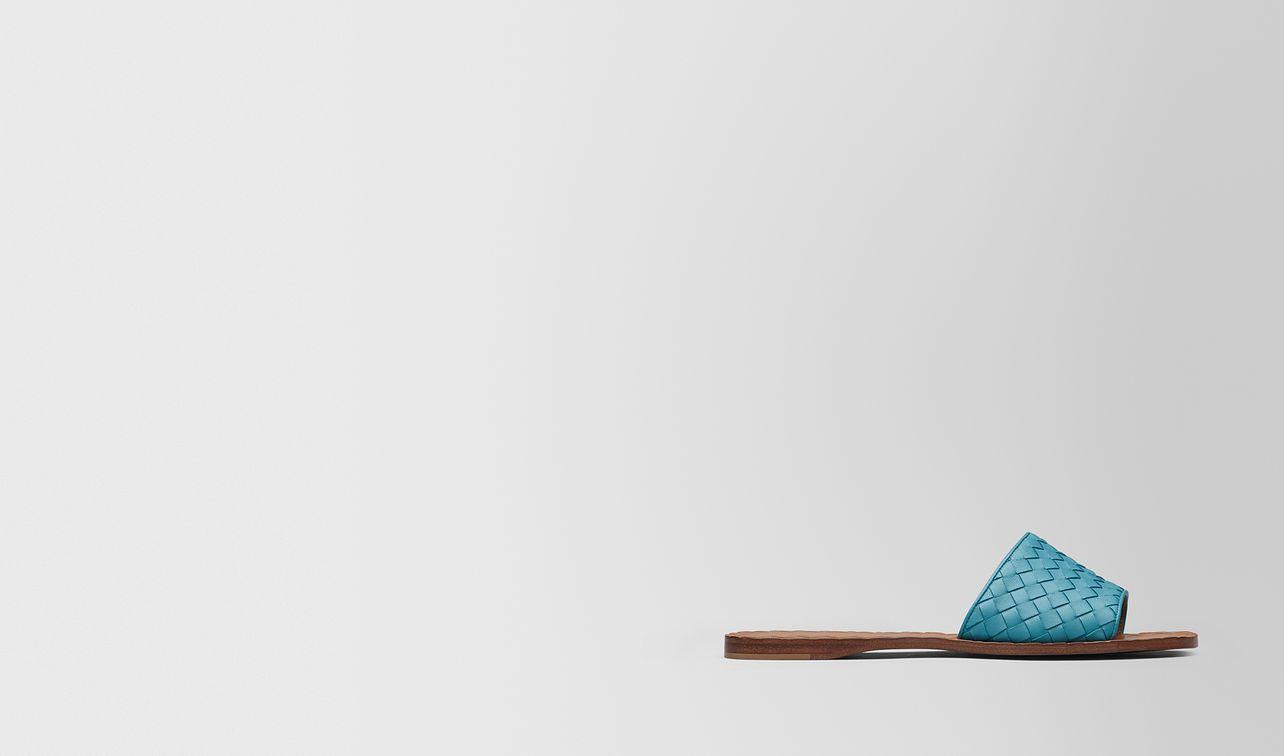 sandales ravello en cuir nappa intrecciato aqua landing