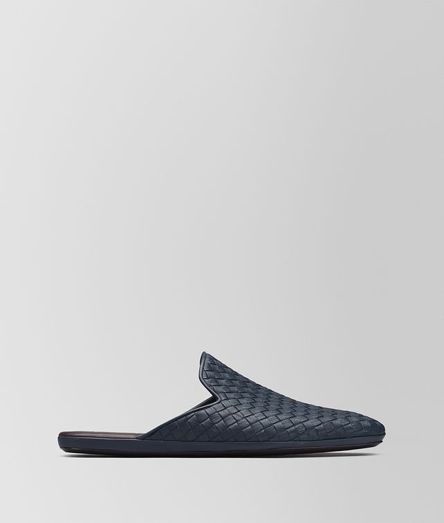 BOTTEGA VENETA DENIM INTRECCIATO CALF FIANDRA SLIPPER Mocassin or Slipper Man fp
