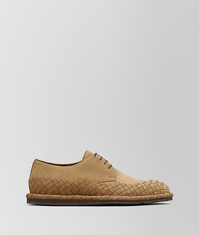 BOTTEGA VENETA CAMEL INTRECCIATO SUEDE IAC SHOE Lace Up [*** pickupInStoreShippingNotGuaranteed_info ***] fp